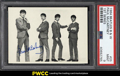 1964 Beatles B&W 1st Series Paul McCartney #25 PSA 9 MINT (PWCC)