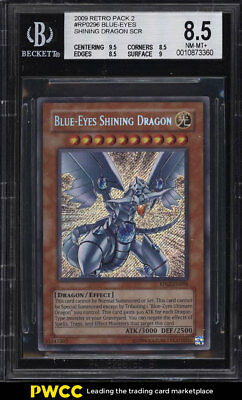 2009 Yu-Gi-Oh! Retro Pack 2 Blue-Eyes Shining Dragon #RP02-EN096 BGS 8.5 (PWCC)