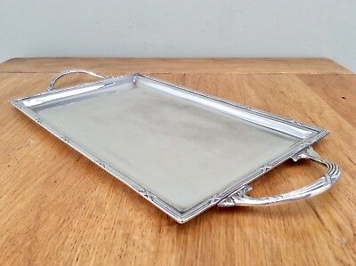 "Superb FRENCH Antique Art Nouveau 12.5""  Silver Plated Tray C1910 Makersmark C&L"