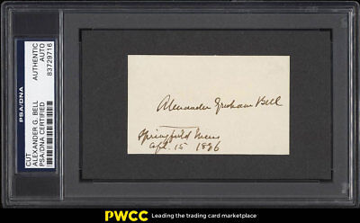 Alexander Graham Bell Signed Autographed Cut Card AUTO PSA/DNA Auth (PWCC)
