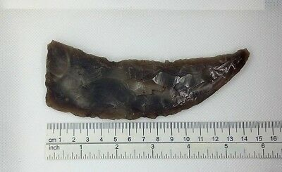 Perfect Sickle  BIG Knife Stone Age Neolithic Flint tool 3000-1500 BC # 134