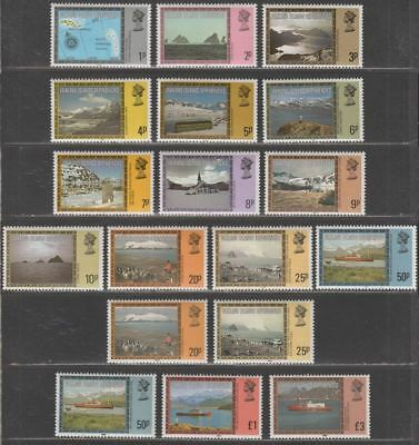 Falkland Islands Dependencies 1984-85 QEII Views Imprint Date Sets Mint