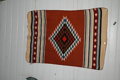 "St Labre Indian School Lap Blanket American Style 46"" long x 36"" wide Unused"