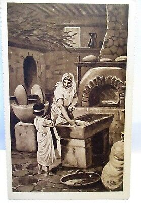 1920s ITALIAN POSTCARD PARABLES OF THE GOSPEL,THE YEAST, IL LIEVITO