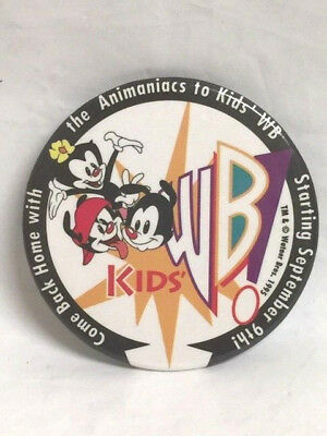 """1995 Warner Brothers - """"come Back Home With The Animaniacs To Kids Wb Pin"""