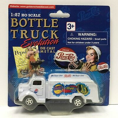 Golden Wheel Bottle Evolution 1947 Pepsi Cola Truck 1:87 HO Scale NEW & MOC