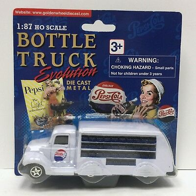 Golden Wheel Bottle Evolution 1937 Pepsi Cola Truck 1:87 HO Scale NEW & MOC