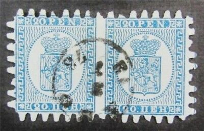 nystamps Finland Stamp # 9 Used $115 Pair
