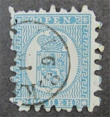 nystamps Finland Stamp # 9a Used $90