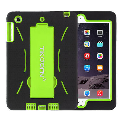 Heavy Duty Case Shockproof Stand Kids Protective Cover for iPad mini 1 2 3 Green