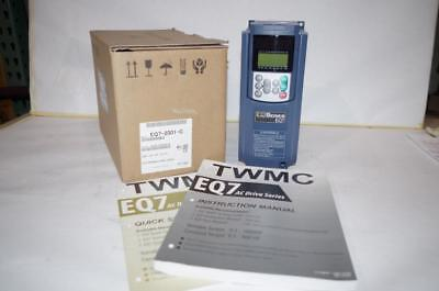 Teco 1Hp Vfd Ac Motor Drive  3 Phase  230Vac In/out   Ip 20  # Eq7-2001-C   New!