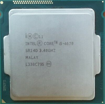 Intel Core i5-4670, 3.40GHz, Good condition