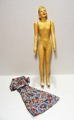 Vintage  Composition Sewing Doll Mannequin Manikin As Is**wow!!