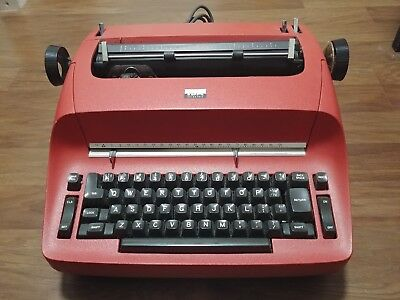RED IBM SELECTRIC ELECTRIC TYPEWRITER -  FOR PARTS or REPAIR