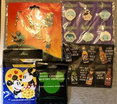 Disney Authentic 25 Pin Trading Lot Unopened Booster Pin Packs ( F -  3 )