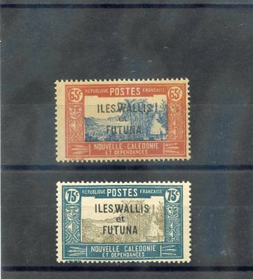 WALLIS & FUTUNA IS Sc 60,62(YT 55-6)**F-VF NH 1930 65c, 75c VALUES $30