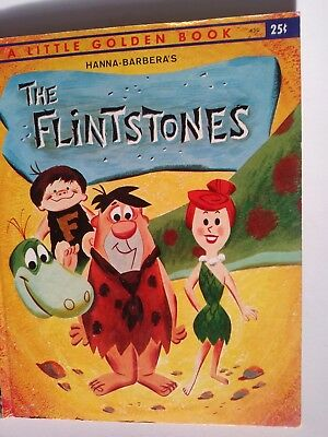 Hanna-Barbara's *The FLINTSTONES* 1961, Little Golden Book, Collectible.