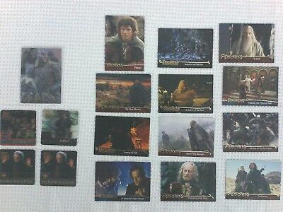 Lord Of The Rings LOTR CARDS Collectible FLIPZ, FOIL, TOPPs  lot of 17
