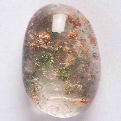 Y86200 24x17x11 Multi-color Phantom Quartz Freeform Pendant Bead