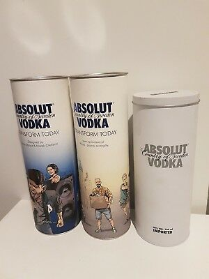 3x Box Absolut Vodka from POLAND (without bottles for collector)