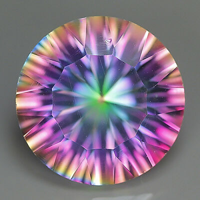 10.64 Ct Natural Brazil Multi-Color MYSTIC QUARTZ Round Gemstone @ See Video !!