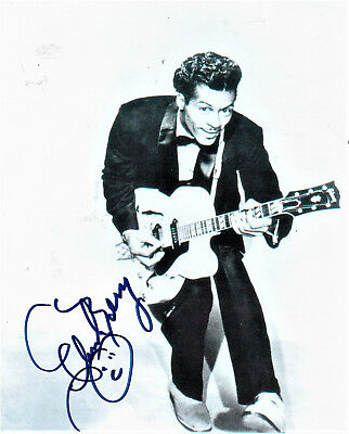 Chuck Berry - Authentic And Genuine Hand Signed 8X10 Picture...private Signing.
