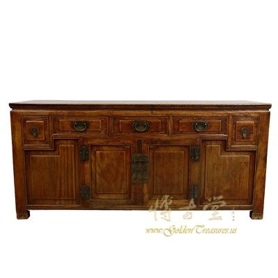 Antique Chinese Carved Sideboard/Buffet Table, Huge