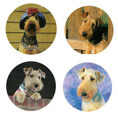 Airedale Terrier Magnets 4 Cool Airedales 4 your Fridge or Collection-Great Gift