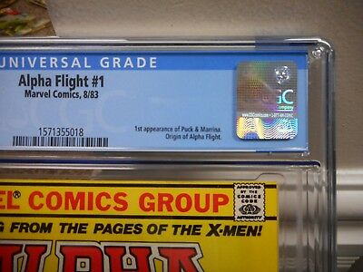 Alpha Flight 1 cgc 9.6 Marvel 1st Puck 1st Marrina 1983 WHITE X-Men movie Canada