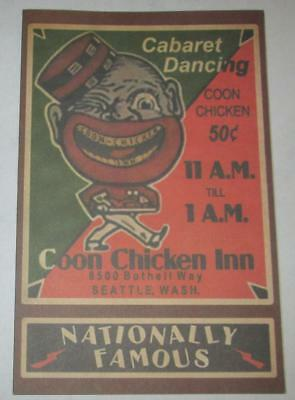 Black Americana Chicken Inn Restaurant Cabaret Dancing Menu