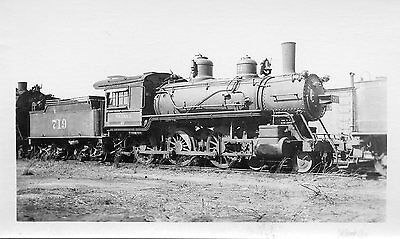 X179 RP 1940s WABASH RAILROAD TRAIN ENGINE #719