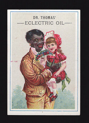Original 1880s Dr Thomas Eclectric Oil Trade Card -  Rensselaerville NY
