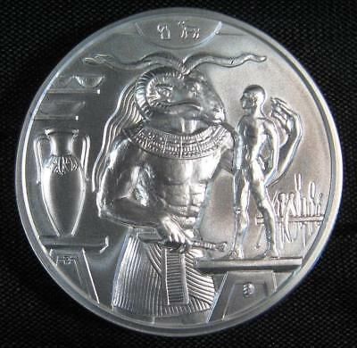 Khnum 2 oz Ultra High Relief Silver Round of the Egyptian Gods Series #4 Issued