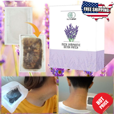 Set of 10 -Nutrispot Neck Lymphatic Detox Patch Amazing New Anti-Swelling Herbal