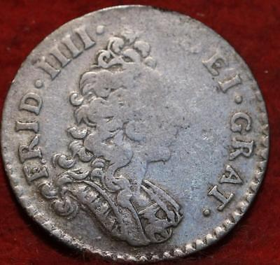 1701 Norway 8 Skilling Silver Foreign Coin