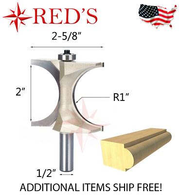 "Tideway Carbide Pro LC08111808 1-1//8 Classical Roman OGEE  1//2/"" shank router bit"