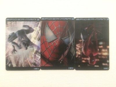 Kraft Spiderman 3 Handi Snacks Lenticular Dual Image Card Set