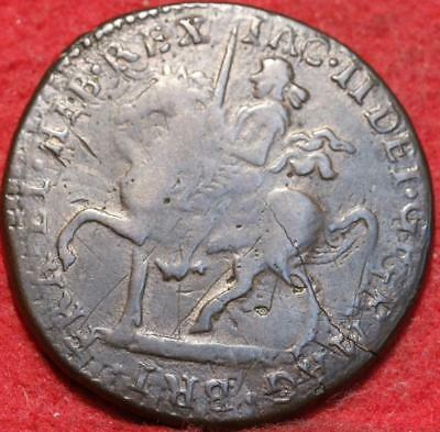 1690 Ireland 1 Crown Foreign Coin
