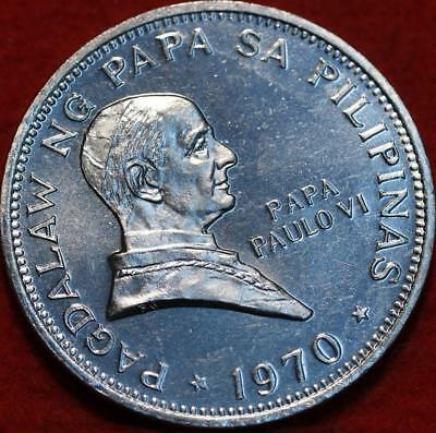 Uncirculated 1970 Philippines Piso Clad Foreign Coin