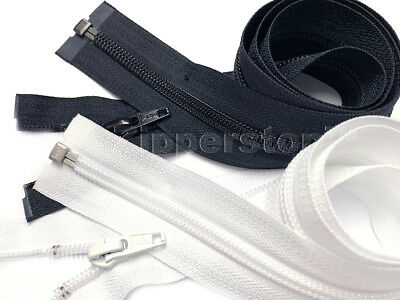 Zipperstop - YKK® #5 Nylon Coil Separating – Black/White Only Made in USA