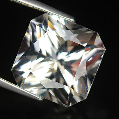 Sporty 9.86 Ct Natural Africa White QUARTZ Cushion Gemstone @ See Video !!
