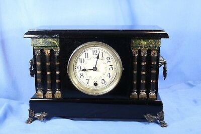 Sessions Antique Mantle Clock Beautiful Rare 100% All Original & Runs Great!