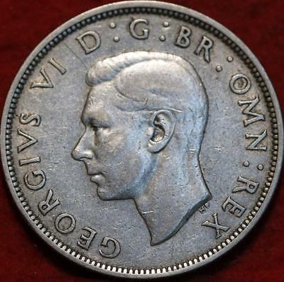 1940 Great Britain 1/2 Crown Silver Foreign Coin