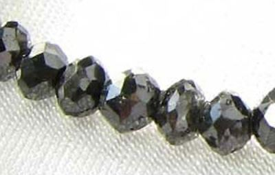 1 Fancy Color 0.46cts Natural Black Diamond Roundel Bead 9892G