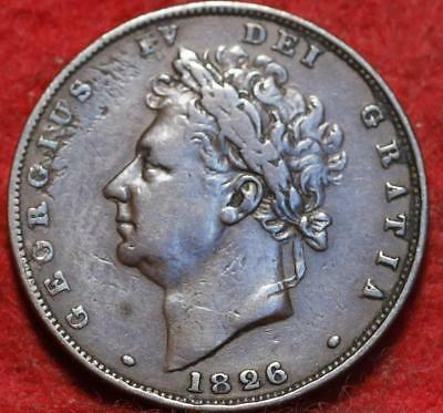 1826 Great Britain 1 Penny Foreign Coin
