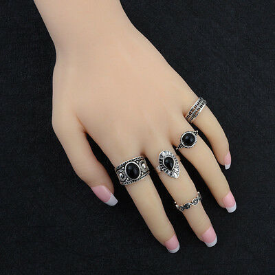 Vintage Ring Boho Ring Beauty Wedding Women'S Fashion Lady 5pcs/Set L