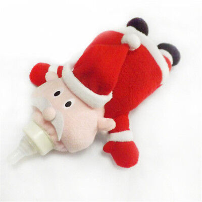 Santa Claus Baby Feeding Bottle Cover Keep Warm Pouch Holder Insulation Bags