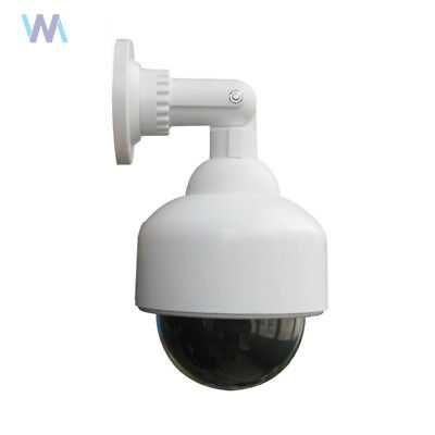 Dummy Camera Outdoor Dome Fake Security Camera With Red Blinking Light