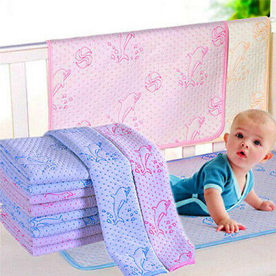 Baby Infant Diaper Nappy Urine Mat Kid Waterproof Bedding Changing Cover Pad  L
