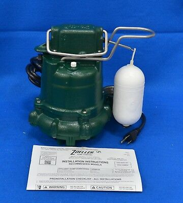 """ZOELLER M53 Mighty-Mate Submersible Sump Pump 115V Vertical 3/10 HP 1-1/2"""""""